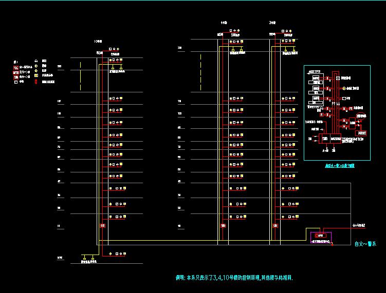 水利厅消防设计图免费下载-图纸电气乐拼20005b模式图纸图片