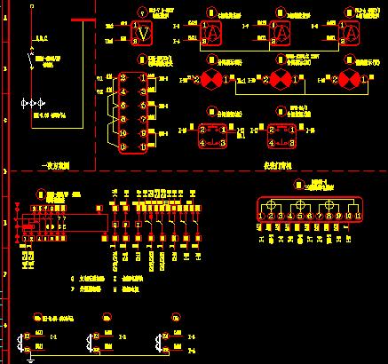 固碱西低压配电柜接线图及原理图
