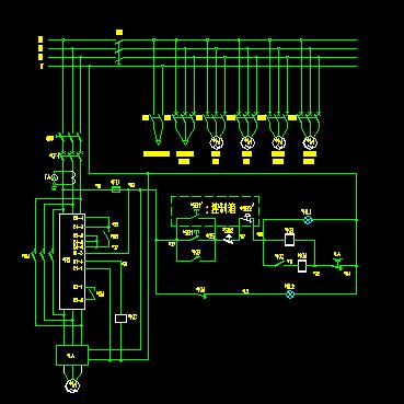 水厂水泵控制柜及配电柜电气原理图