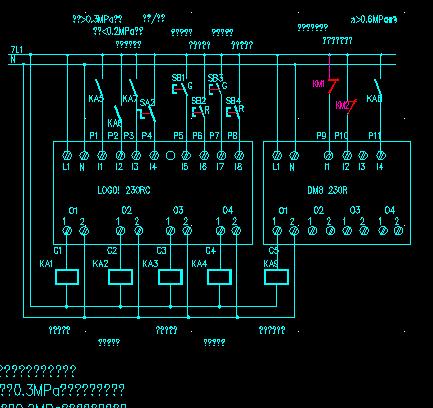 全自动管道加压循环水自控装置接线原理图