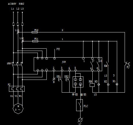 软启控制配电柜系统接线图