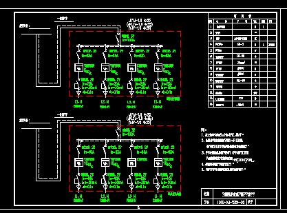 10KV农网改造低压接户线及配电表箱系统图