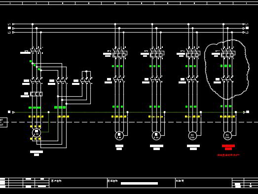废水处理三效电气原理图