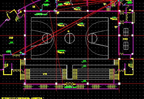 篮球馆电气设计图纸