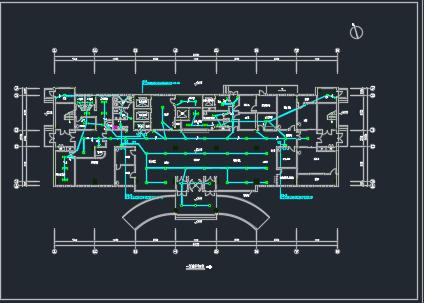 大型综合医院电气施工图纸