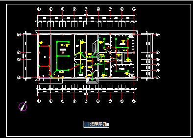 二层宿舍楼电气设计图纸