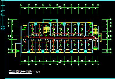 某中学五层宿舍楼电气设计图