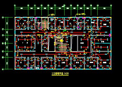 四层医院综合楼电气施工图纸