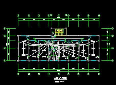 轻纺试验楼电气给排水设计图纸