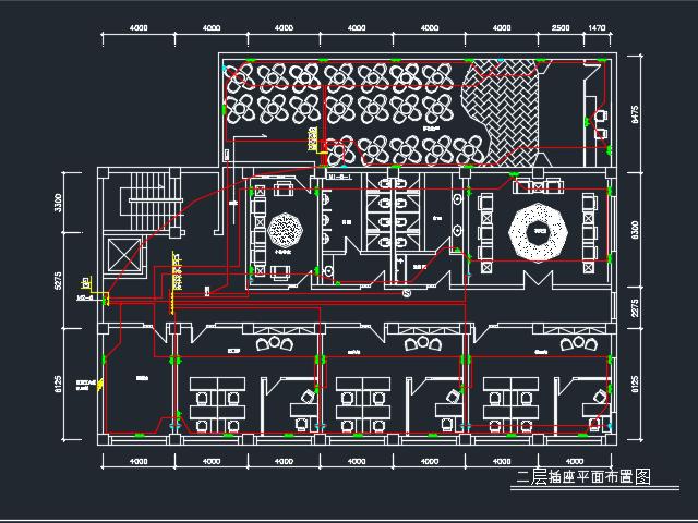 四层综合楼装修电气设计图