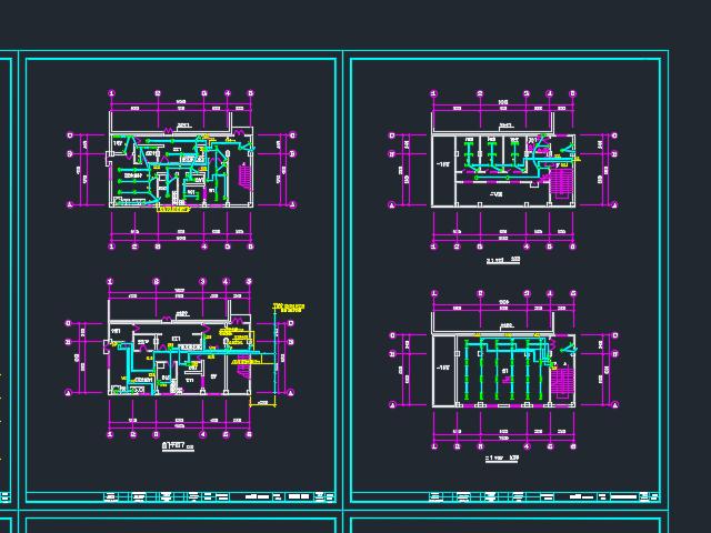砖混结构食堂电气改造设计图