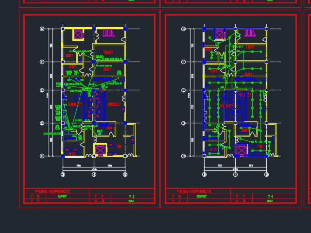 地下餐厅装修电气设计图