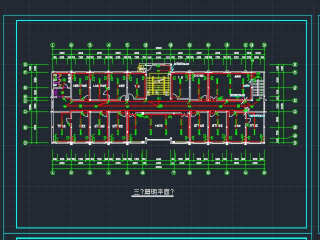 四层办公楼电气照明箭头设计图免费下载-ps怎样绘制平面曲线图片