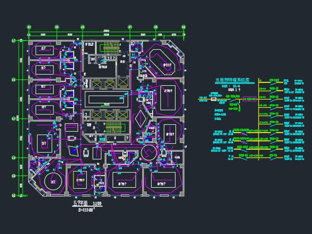 二十五层框架结构宾馆电气施工图