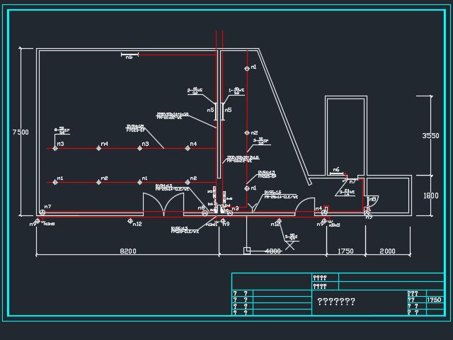 发廊电气设计图