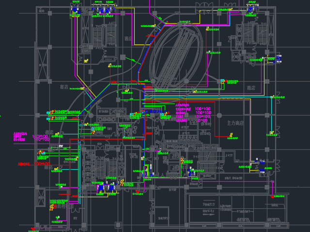 某商业楼弱电系统设计图