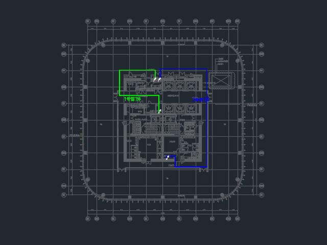 商业楼电气路由平面设计图