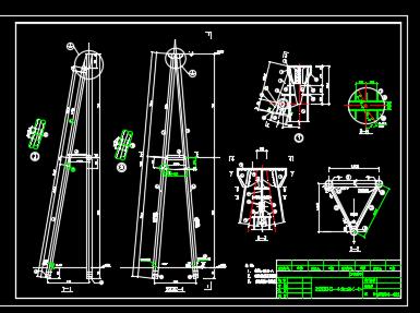 220kV变电站构架设计图纸