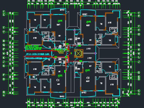 住宅楼电气设计图