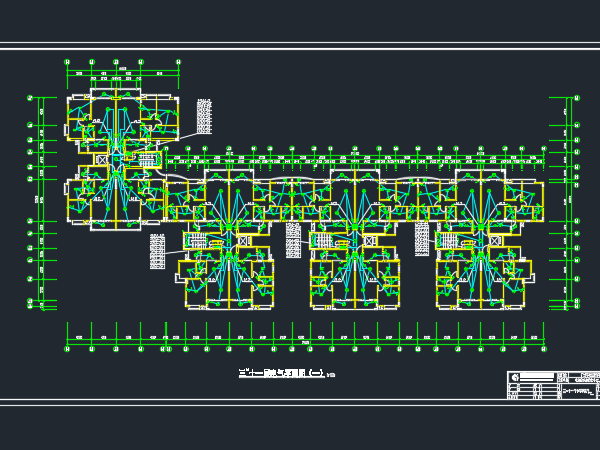 小区住宅楼电气施工图