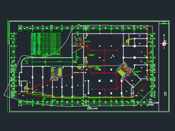 小区住宅楼电气设计图