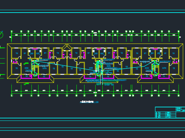 六层住宅楼电气施工图