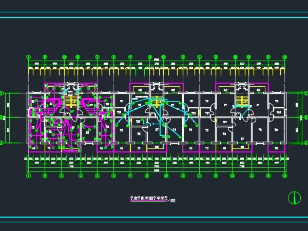 六层砖混结构住宅楼电气施工图