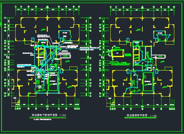 高层住宅楼电气施工图