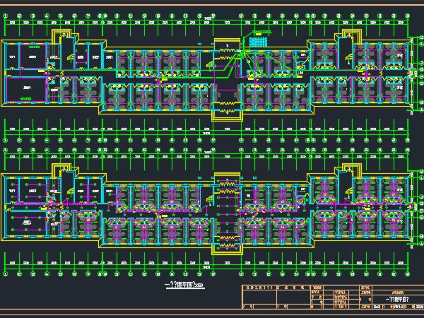公寓宿舍楼电气设计图