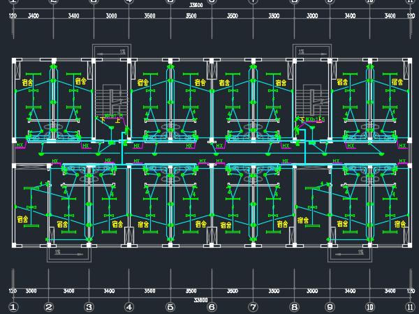 五层宿舍楼电气施工图