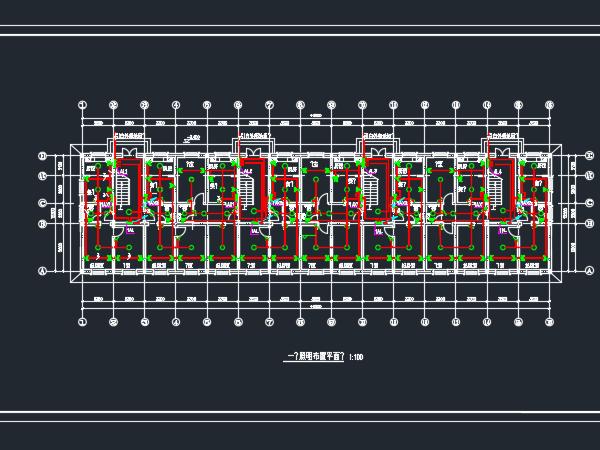 六层办公结构住宅楼电气设计图