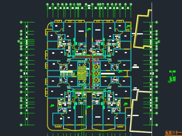 高层公寓弱电平面设计图