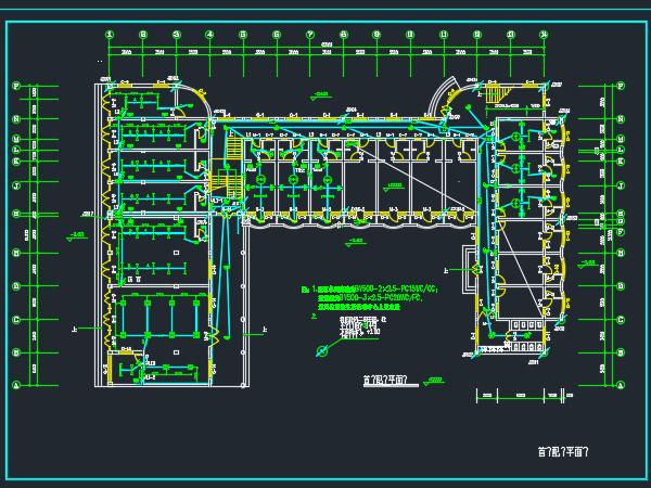 四层公寓电气设计图