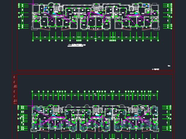 十一层住宅楼电气设计图