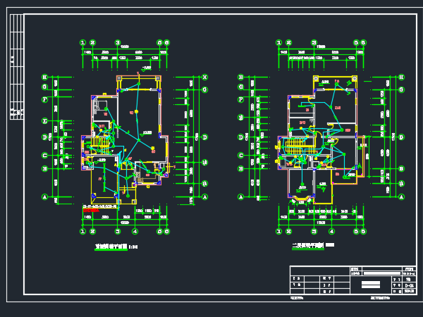 二层别墅电气施工图