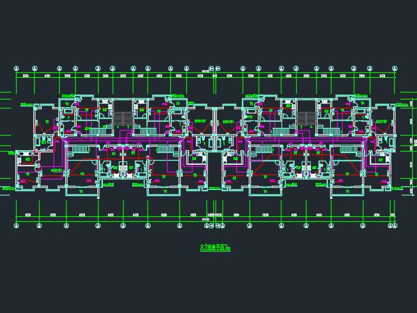 六层公寓楼电气设计图