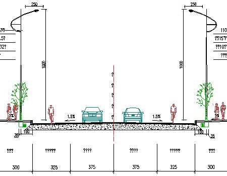 20m宽双向二车道照明工程设计套图