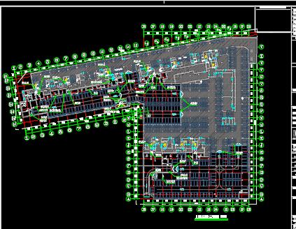 某住宅区人防工程施工图纸(含建筑结构水电暖)