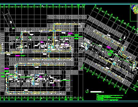 某高级住宅地下室通风防排烟施工图