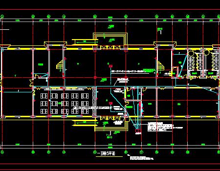 大学五层教学楼强弱电施工图