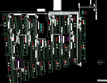 大型住宅区设备总平面布置图纸