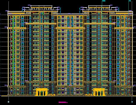 十八层住宅楼智能楼宇设计图纸(含建筑底图)