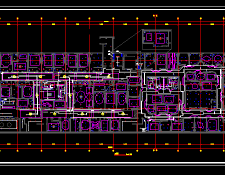 娱乐厅装修给排水电气施工图