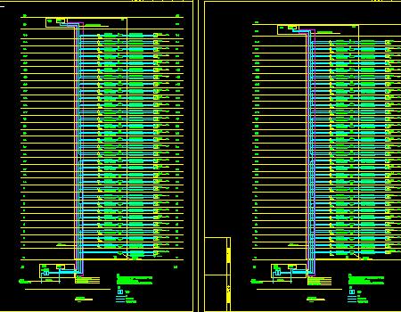 三十二层住宅楼强弱电施工图纸