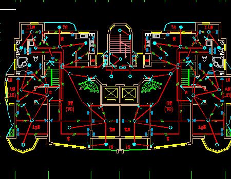 十八层商住楼电气施工图