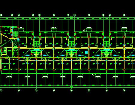 六层板式商住楼电气全套施工图