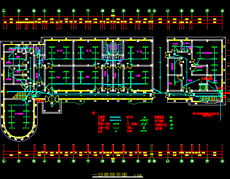 三层幼儿园强弱电施工图