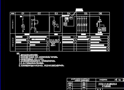 200kVA欧式箱式变电站设计图纸