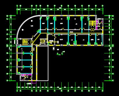 六层L型行政办公楼弱电综合布线施工图纸