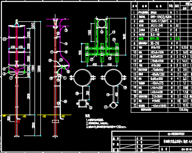 10kV单回电缆上杆图